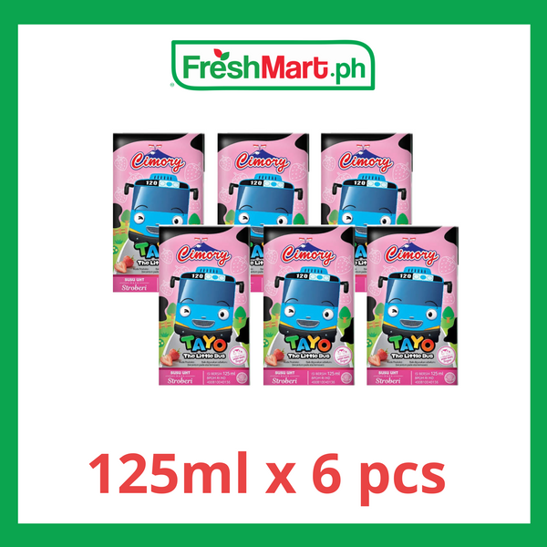 Cimory UHT Strawberry Flavored Milk 125ml  x 6 pcs