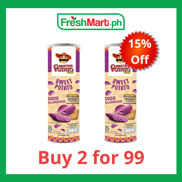Promo: Mister Potato Crisps Sweet Potato 100g - 2 for P99