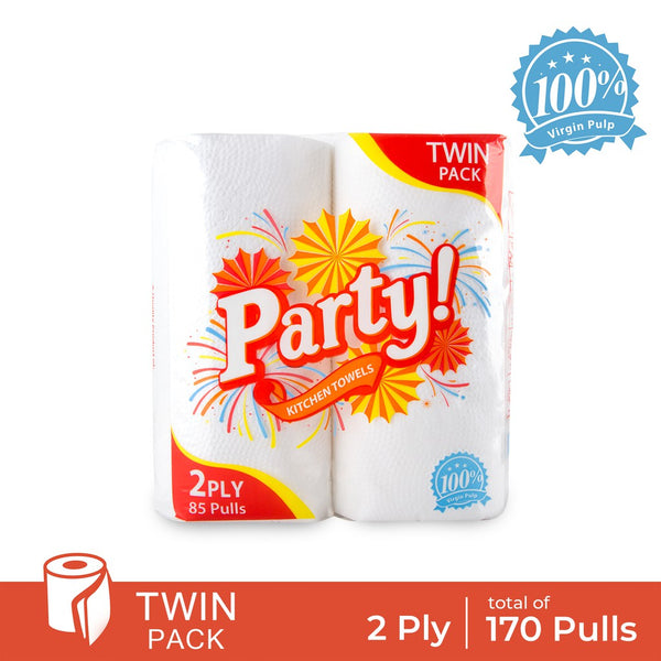 Party Twin Pack Kitchen Towel - 2 ply
