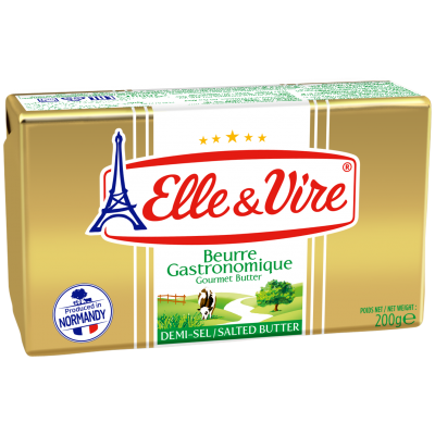 Elle & Vire French Butter 82% Fat Salted 200G