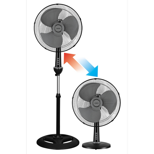 "Union 16"" 2-in-1 Desk/Stand Fan - Black"