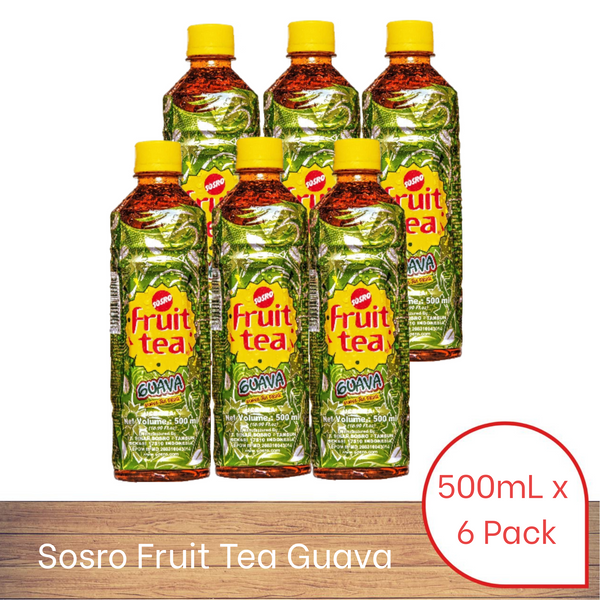 Sosro Fruit Tea Guava (500ml x 6 pack)