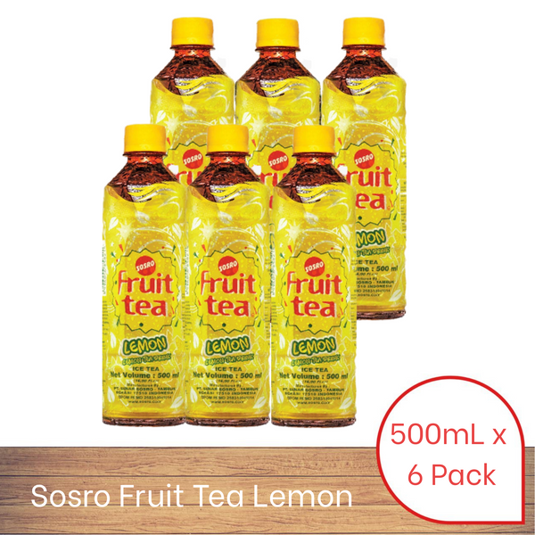 Sosro Fruit Tea Lemon (500ml x 6 pack)