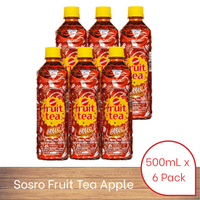 Sosro Fruit Tea Apple (500ml x 6 pack)