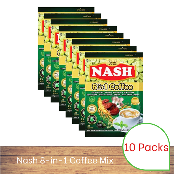 Nash 8-in-1 Coffee Mix (Box of 10)