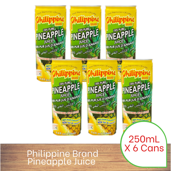 Philippine Brand Pineapple Juice 250ml x 6 pack