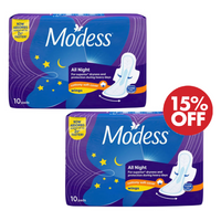 Modess All Night 10s Buy 2 Get 15% Off