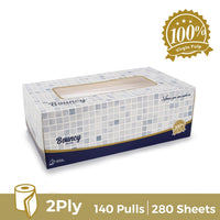 Bouncy Facial Tissue 140 pulls 2 ply