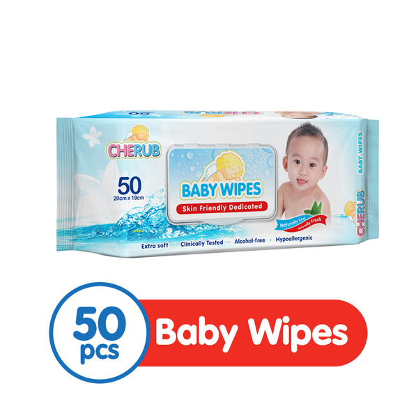 Cherub Baby Wipes 50s