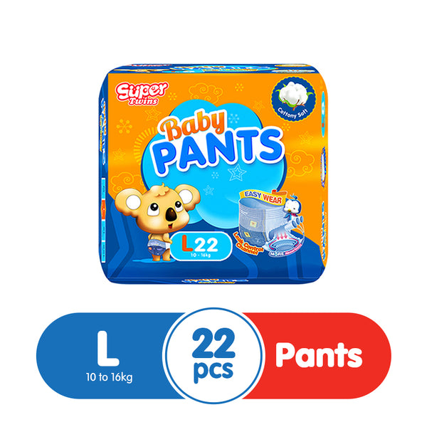 Super Twins Baby Pants Large - 22s
