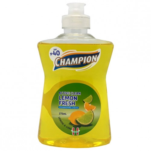 Champion Dishwashing Liquid Lemon Fresh 275ml