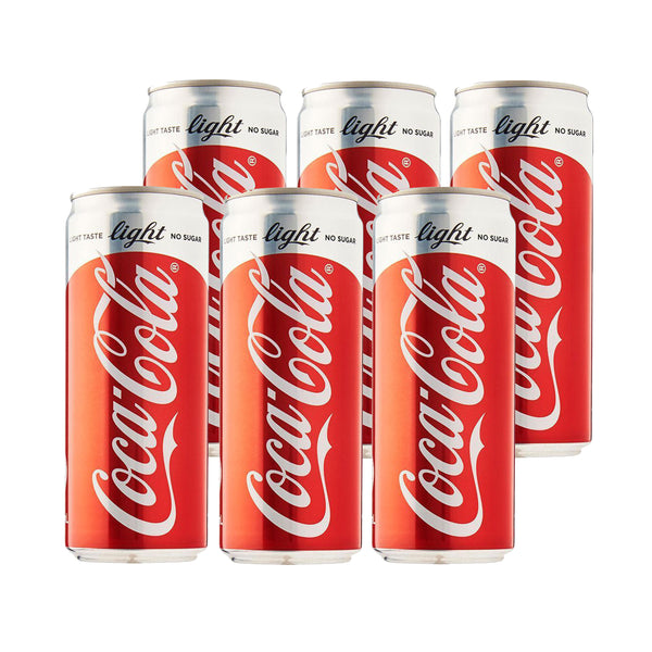 Coke Light 330ml Can (Pack of 6)