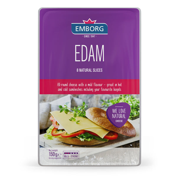 Emborg Natural Cheese Slices - Edam 150g