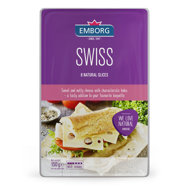 Emborg Natural Cheese Slices - Swiss 150g