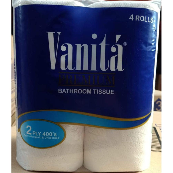 Vanita 2Ply Bathroom Tissue Rolls - 4 Rolls