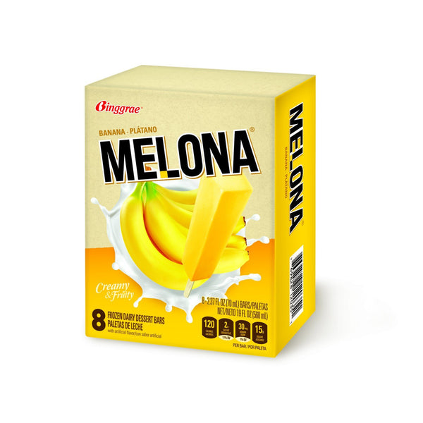 Melona Ice Cream Bar - Banana (8 pack)