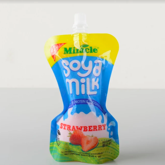 Miracle Soya Milk 250ml - Strawberry