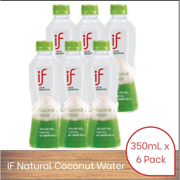 IF Coconut Water 100% Natural (350ml x 6 pack)