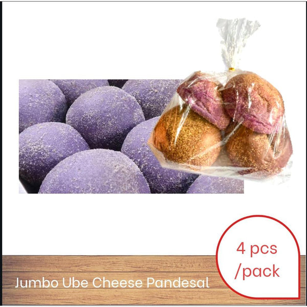 Ube Cheese Pandesal Jumbo - 4 Pcs