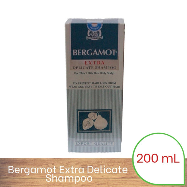 Bergamot Extra Delicate Shampoo (200mL) – For Thin / Oily Hair and Scalp