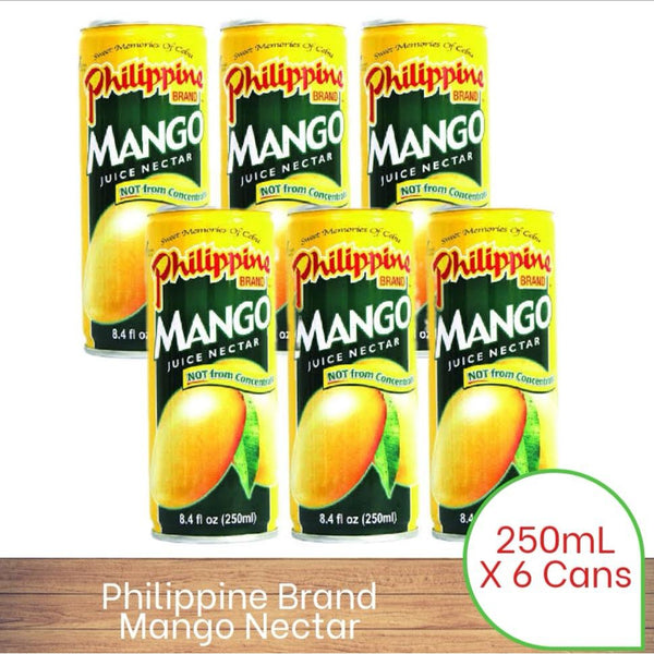 Philippine Brand Mango Nectar 250ml x 6 pack