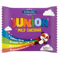 Emborg Junior Mild Cheddar Cheese Slices 100g