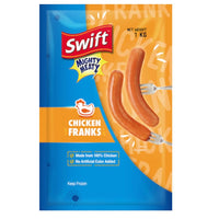 Promo: Swift Mighty Meaty Jumbo Chicken Franks (1kg)
