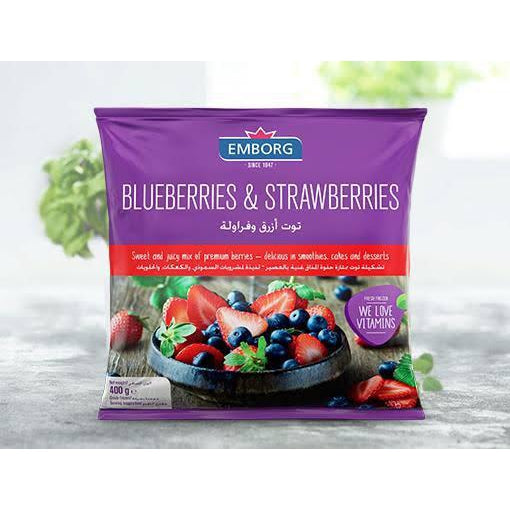 Emborg Frozen Blueberries & Strawberries Mix 400g