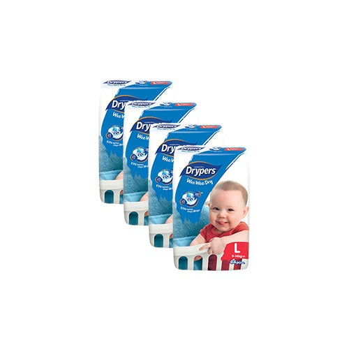Drypers Wee Dry Diapers Jumbo Pack (Large) x 44
