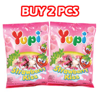 Yupi Strawberry Kiss Hanging Bags 120g - Super Savers Pack of 2