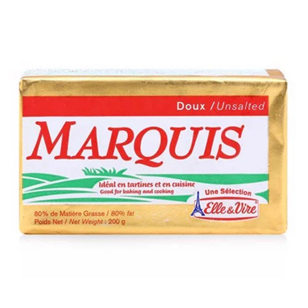 Elle & Vire Le Marquis Butter 80% Fat Unsalted Packets 200g
