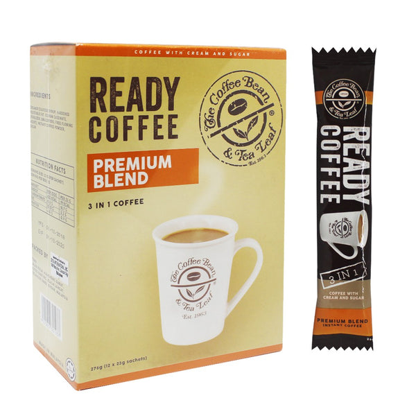 The Coffee Bean and Tea Leaf Ready Coffee 3-in-1 Premium Blend 23g X 12 Sachets