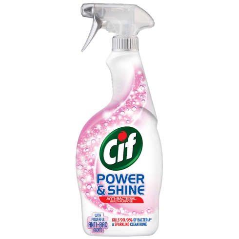 CIF Multipurpose Antibacterial Spray Power & Shine 700ml