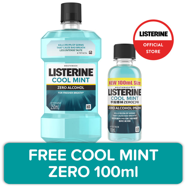 Promo: Listerine Coolmint Mouthwash 250mL + FREE 100mL