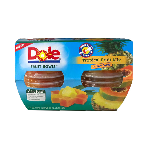 Dole Tropical Fruits in Light Syrup Cup (113g x 4 cups)