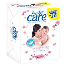 Tender Care Sakura Soap Bar 65g - 4 Pack