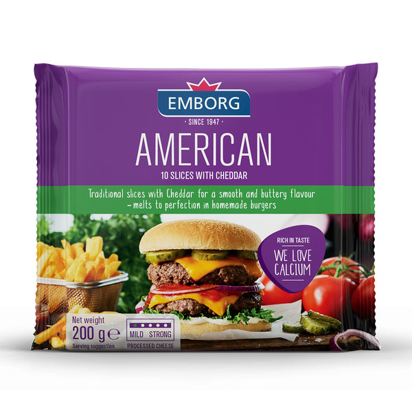 Emborg Processed Cheese Slices - American 200g