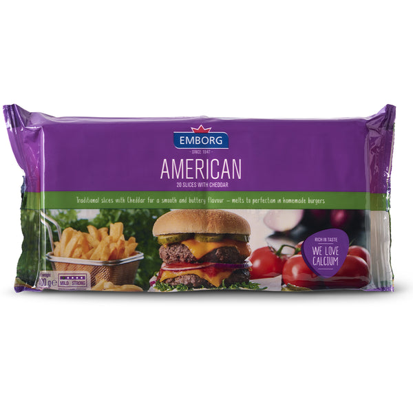 Emborg American Processed Cheese 400g - Family Pack