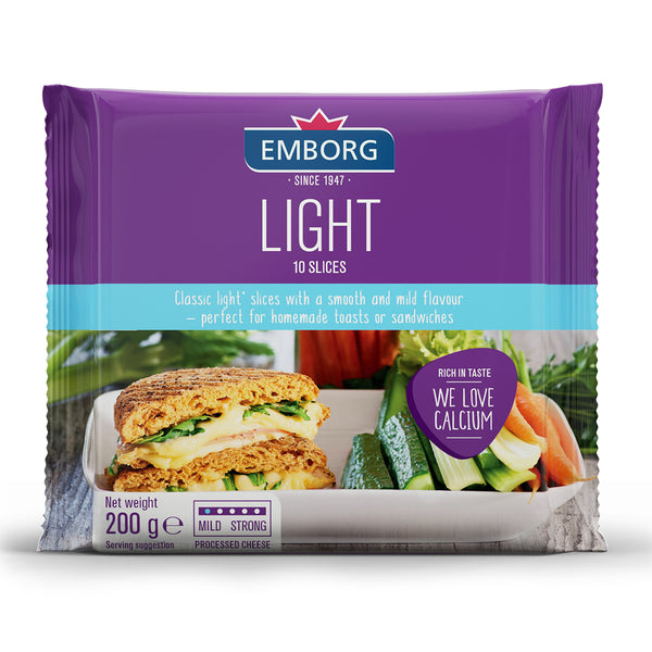 Emborg Light Processed Slices Cheese 200g