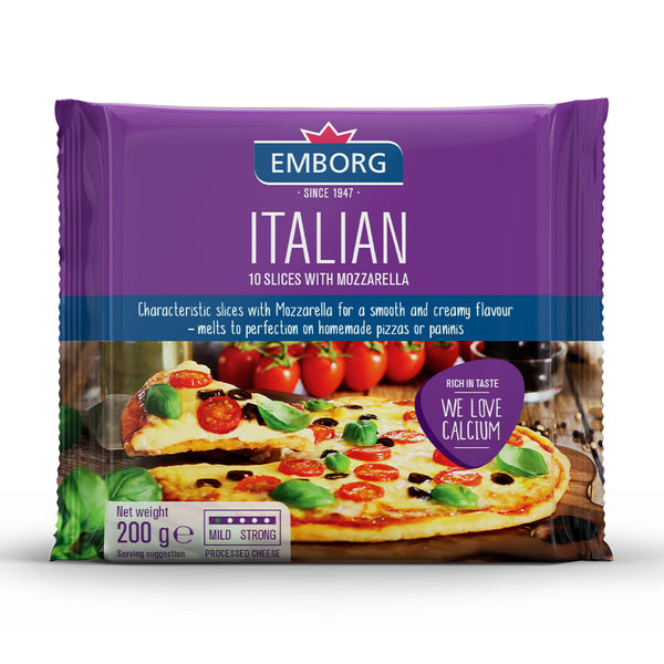 Emborg Processed Cheese Slices - Italian