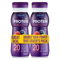 PROMO! Emborg Protein Smoothie Raspberry Blueberry 250ml BUY ONE TAKE ONE!