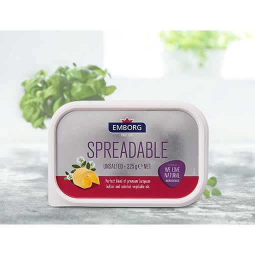 Emborg Spreadable Butter Unsalted 225g