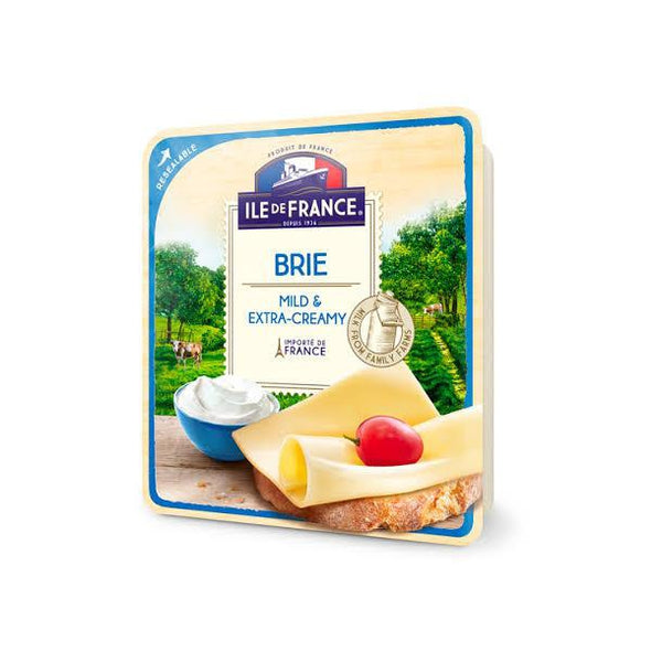 Ile de France French Natural Sliced Cheese - Brie
