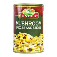 Sunbest Mushroom Pieces and Stems 400g