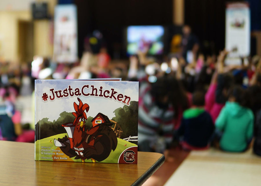 #JustAChicken, Book, Children's Book, Gamecocks, School Books, Schools, Elementary children