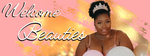 Natural hair queen. High afro puff with diamond tiara. Welcome banner