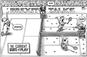 Original Artwork of Brexit negotiations from The Economist