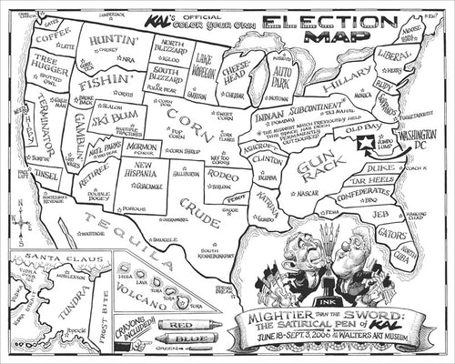 2006 Election Map Print