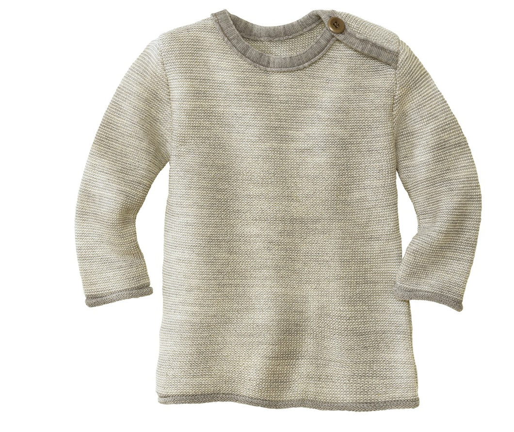 Melange Jumper: Grey / Natural