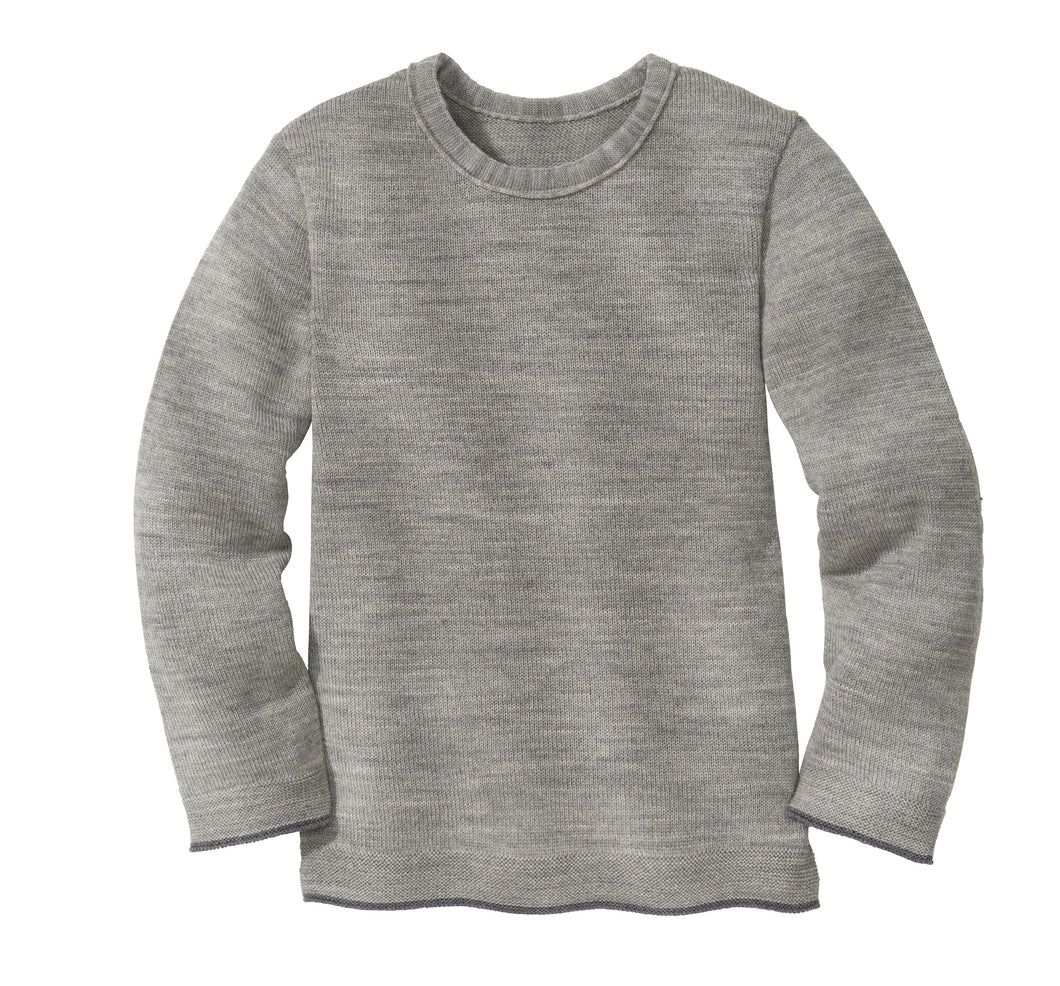 Knitted Jumper: Grey